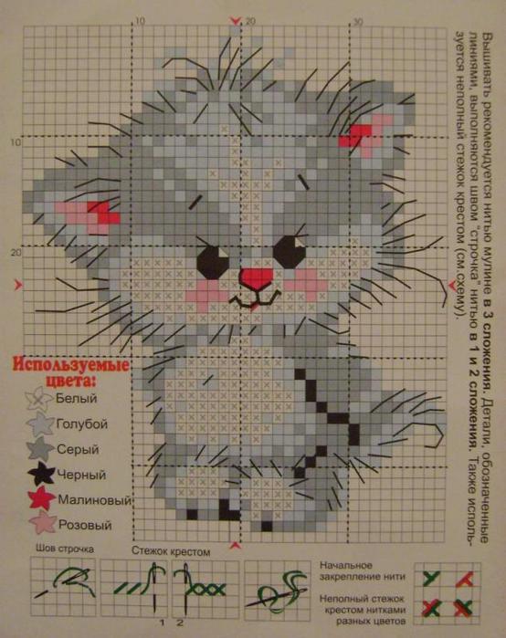 可爱的小动物图案(可做毛衣绣)