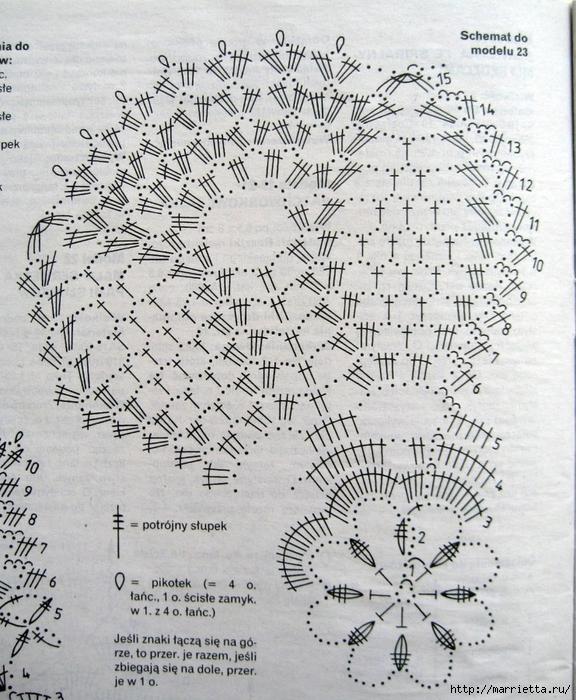 Вязание крючком. Салфетки (15) (576x700, 396Kb)