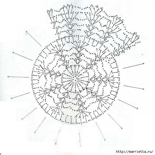 Вязание крючком. Салфетки (17) (500x498, 152Kb)