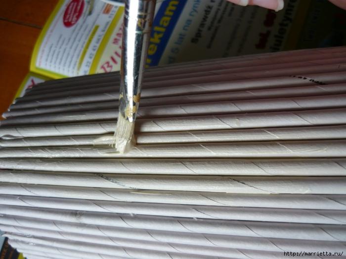 Декорирование предметов газетными трубочками (6) (700x525, 248Kb)