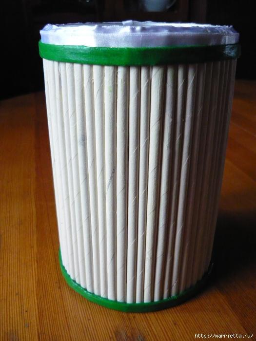 Декорирование предметов газетными трубочками (11) (525x700, 254Kb)