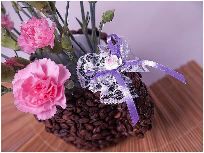 кофейная чашка. декор кофейными зернами (12) (700x526, 65Kb)