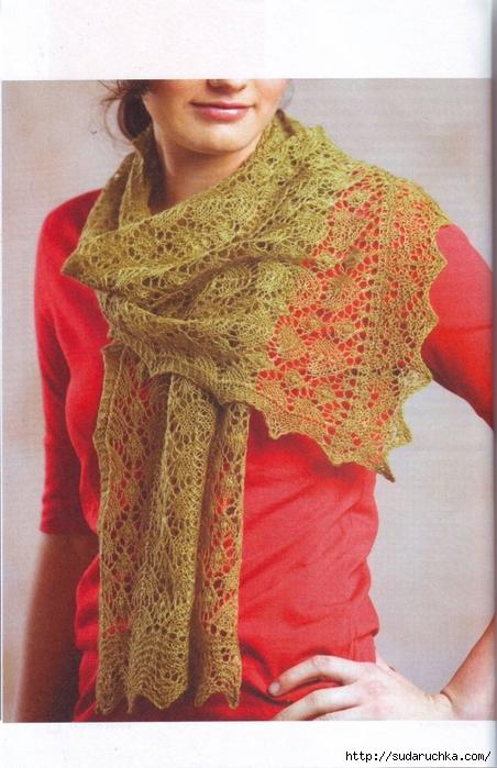 Схемы вязания крючком шалей тщательно описаны и разъяснены, так что проблем в ... Вязаные шарфы.