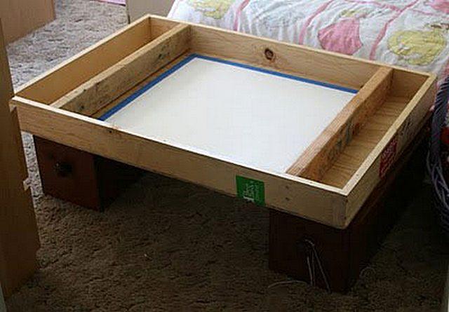Сделать своими руками стол для рисования песком