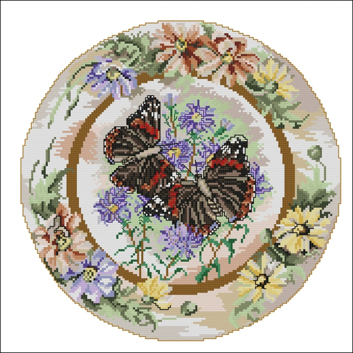 4267534_Anchor_CC83326_Red_Admiral_Butterflies_with_Daisies (700x700, 394Kb)