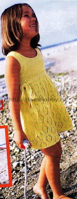 желтое платье для девочки (271x700, 438Kb)
