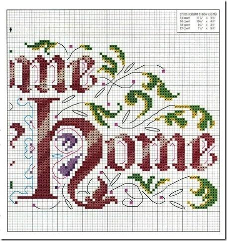 Дом милый дом схема для вышивки