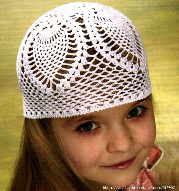 Детская летняя шапочка.