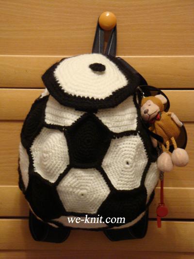 Вязание рюкзак для мальчика