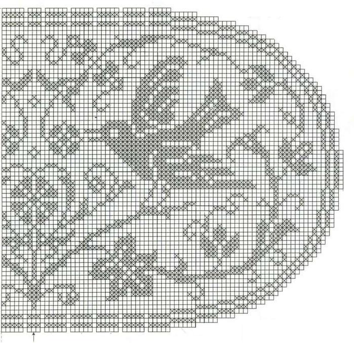 вязание крючком. салфетки скатерти подушки (6) (700x677, 252Kb)
