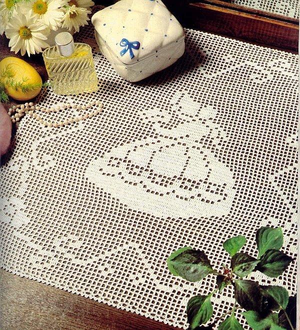 вязание крючком. салфетки скатерти подушки (11) (600x660, 207Kb)