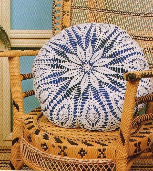 вязание крючком. салфетки скатерти подушки (13) (627x700, 464Kb)
