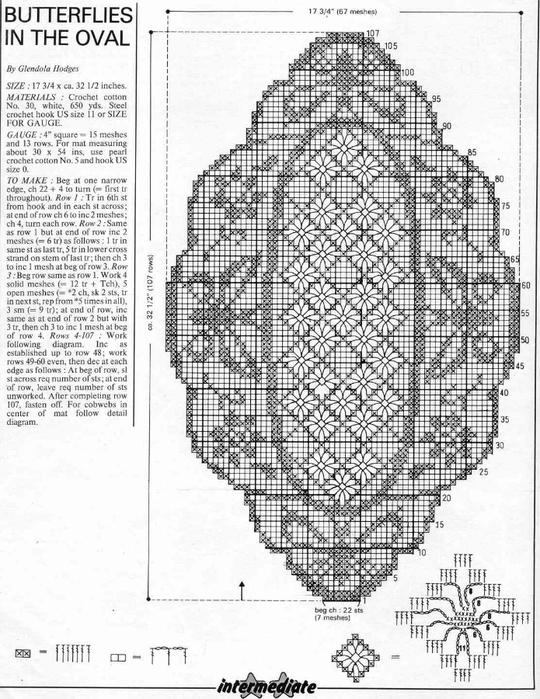 вязание крючком. салфетки скатерти подушки (15) (540x700, 282Kb)