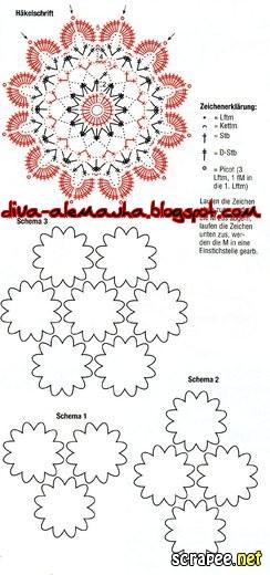 вязание крючком. салфетки скатерти подушки (66) (244x520, 95Kb)