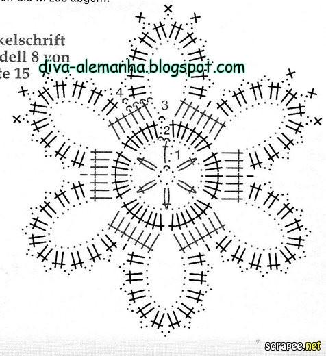 вязание крючком. салфетки скатерти подушки (68) (476x520, 152Kb)