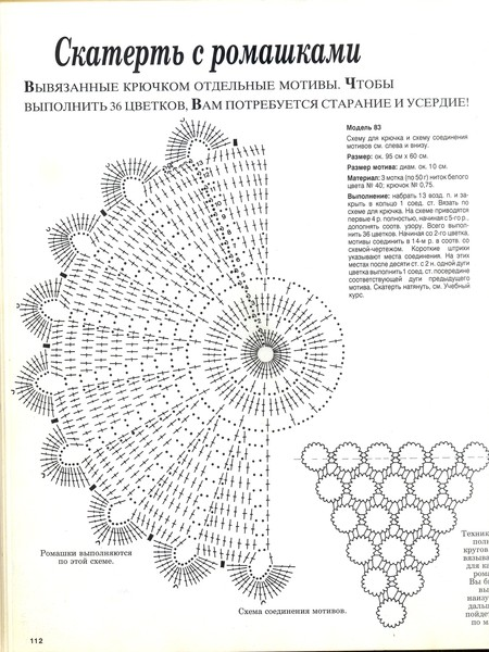 вязание крючком. салфетки скатерти подушки (78) (450x600, 92Kb)