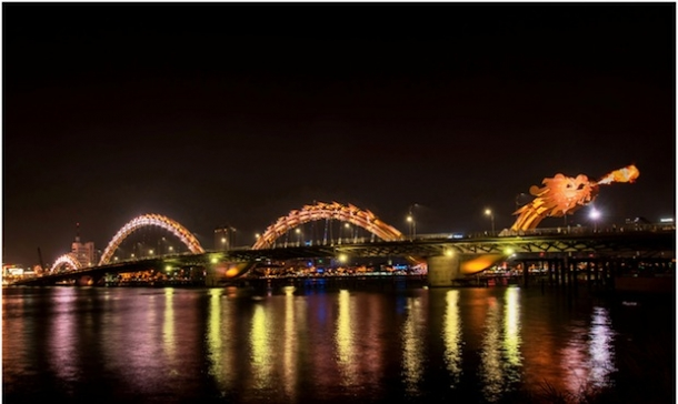 мост Dragon Bridge вьетнам фото 7 (610x364, 122Kb)