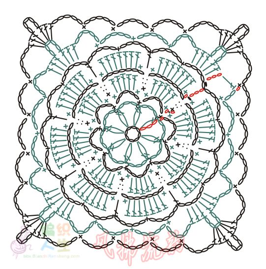 双色玫瑰披肩 - 夏听雨 - 夏听雨的编织生活