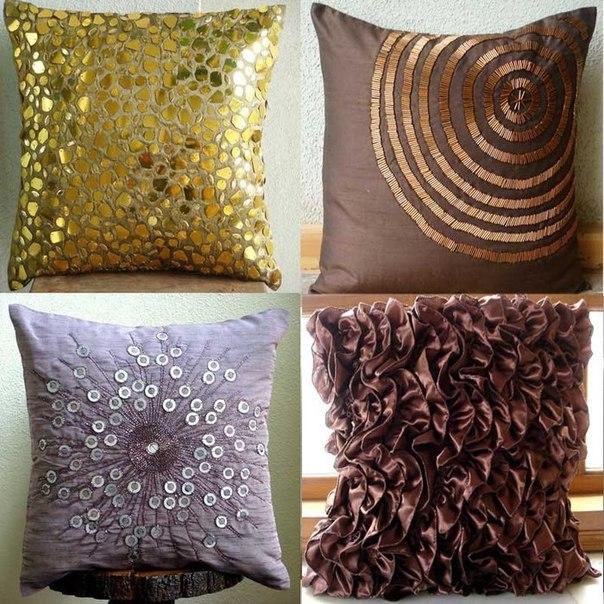 Декоративные подушки своими руками дизайн