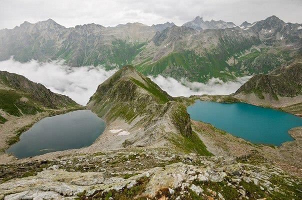 Муруджинские озера. Домбай (604x401, 56Kb)