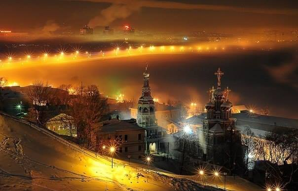 Ночь в Нижнем Новгороде, Россия (604x387, 34Kb)