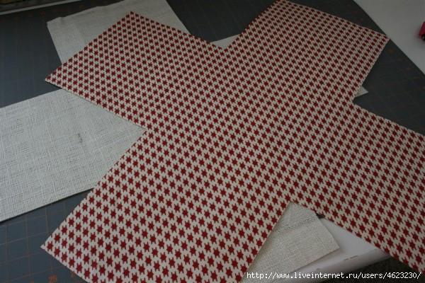 Как сшить коробочки из ткани.  Мастер-класс... фото #5.