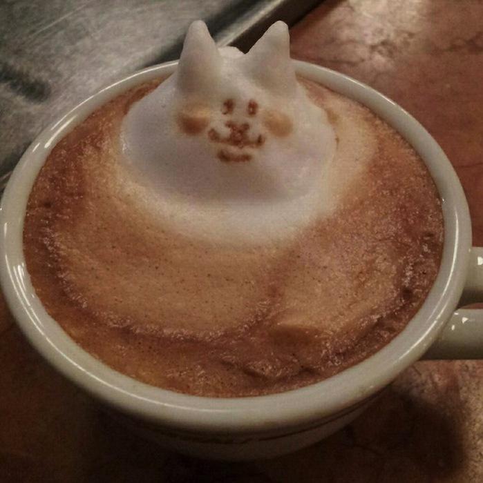 рисунки на кофе фото Кацуки Ямомото 7 (699x700, 105Kb)