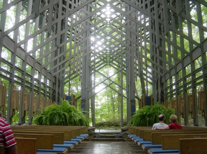 церковь Thorncrown фото 3 (700x521, 346Kb)