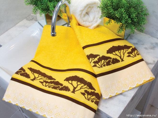 Растительная вышивка крестиком для полотенца. Схема1 (661x493, 205Kb)