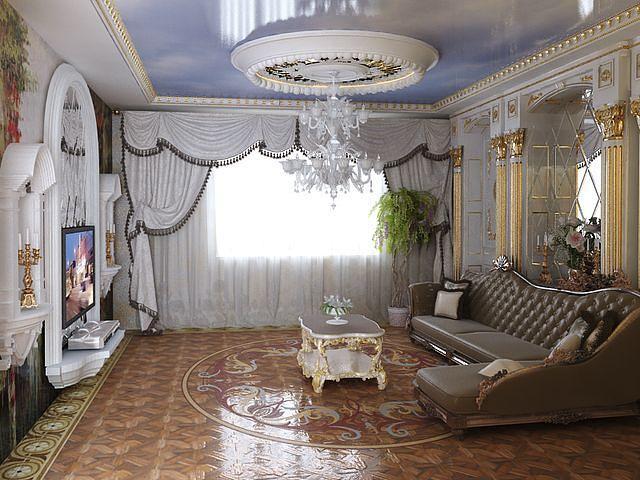 дизайн штор для гостиной: