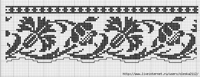 бордюр с васильками (700x269, 153Kb)