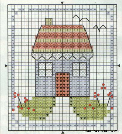 Схема вышивки домика (12)