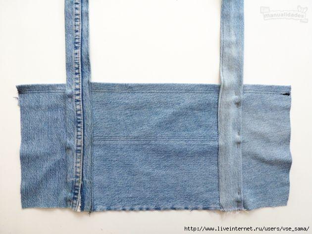 Топ из старых джинсов своими руками 79