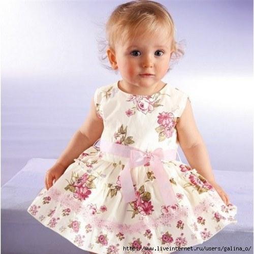 Платье с пирожными детское