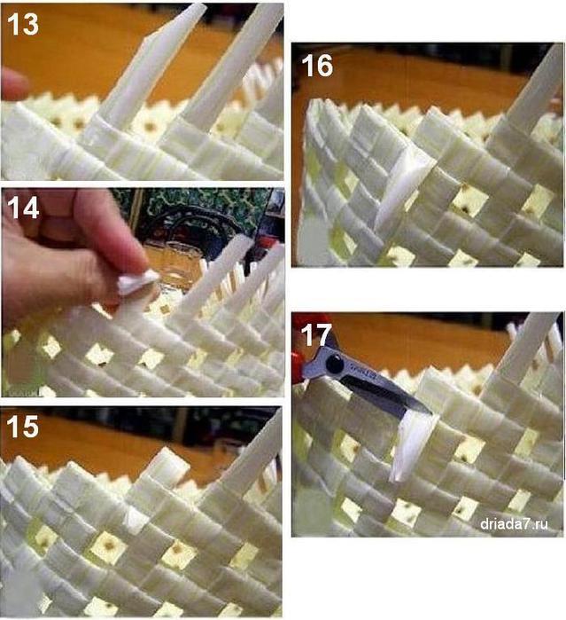 Материал для плетения из бумаги