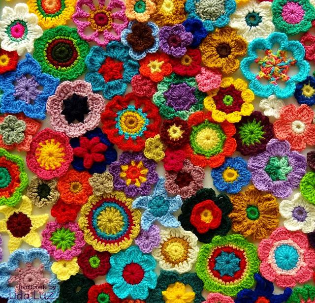 色彩斑斓的钩针花联想创意 - maomao - 我随心动
