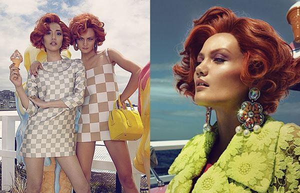 Девушки и сладости в красочной фотосессии журнала Harper's Bazaar