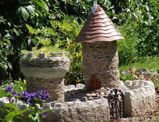 Как сделать мельницу из камня для сада своими руками
