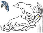 Превью glass pattern 037 Dolphin (700x540, 151Kb)