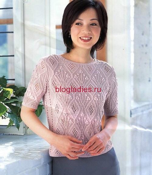 Летний пуловер из японского журнала (500x574, 84Kb)