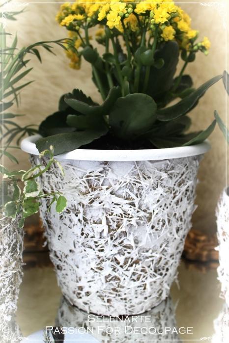 Декорирование цветочных горшков соломой и сухими листьями (13) (466x700, 252Kb)