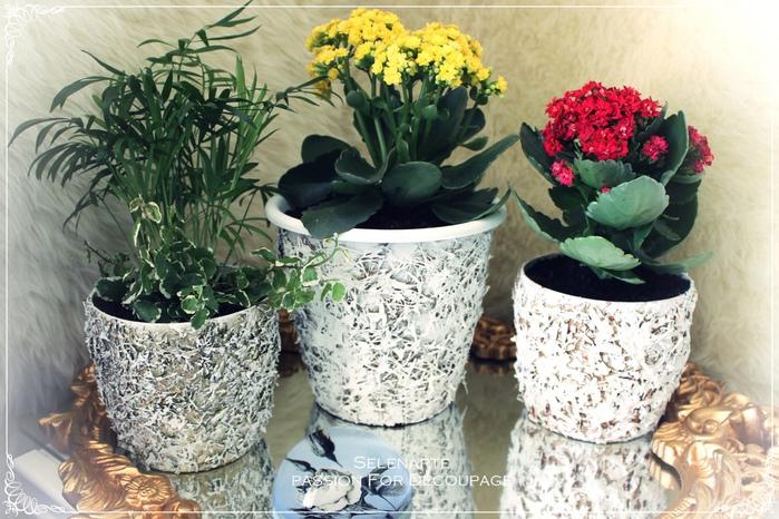 Декорирование цветочных горшков соломой и сухими листьями (15) (700x466, 185Kb)