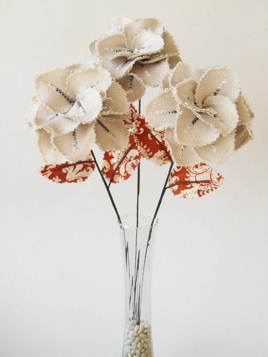 Текстильные цветы и веточки на проволоке и декор вазы тканью (31) (525x700, 54Kb)