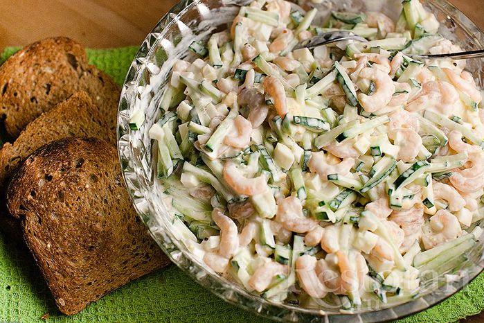 Как приготовить салат с креветками фото