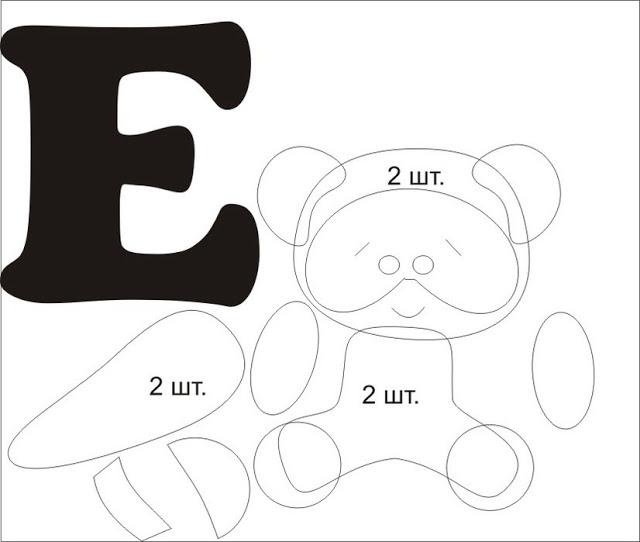 Фетровый алфавит с игрушками из фетра (13) (640x542, 44Kb)