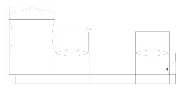 Шкатулочка из бумаги. Шаблон шкатулки (3) (640x320, 13Kb)