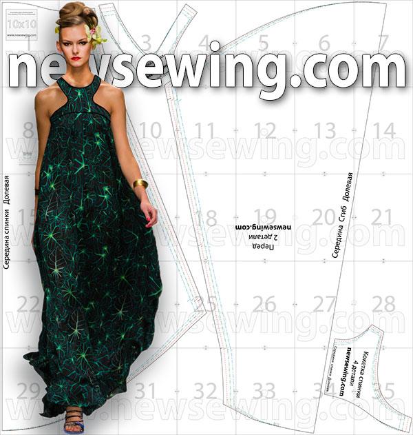 Как сшить вечернее платье в пол своими руками для начинающих 98