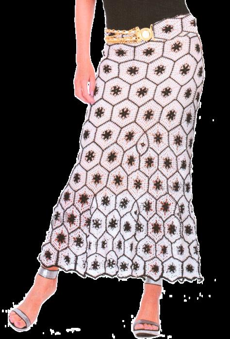 Ажурная юбка с черно-белыми