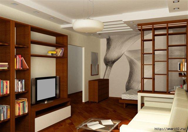 Дизайн интерьера однокомнатной квартиры - эксклюзивно на Our-Interior.com