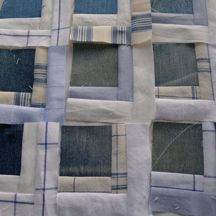 Покрывало в технике пэчворк из старых джинсов и рубашек (3) (700x700, 418Kb)